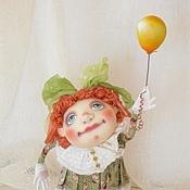 Куклы и игрушки ручной работы. Ярмарка Мастеров - ручная работа Кукла текстильная.Девочка с шариком.. Handmade.