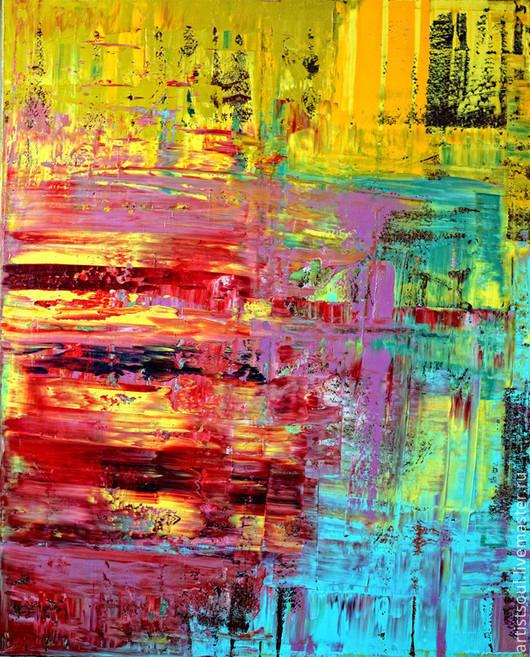 Абстракция ручной работы. Ярмарка Мастеров - ручная работа. Купить Абстрактная живопись. Glow - 3.. Handmade. Ярко-красный, картина