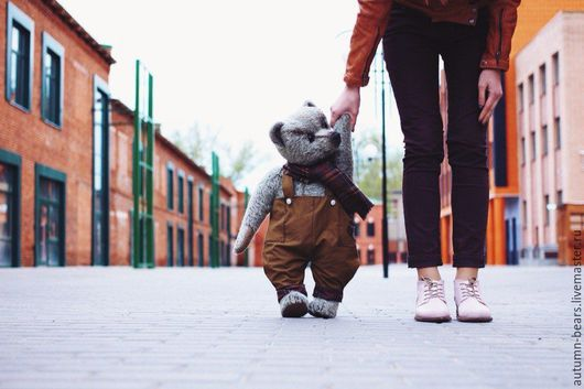 Мишки Тедди ручной работы. Ярмарка Мастеров - ручная работа. Купить Большой мишка Веня. Handmade. Коричневый, опилки