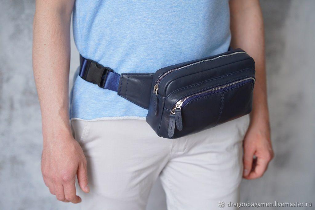Men's Fanny pack 'Oscar' (Dark blue), Men\'s bag, Yaroslavl,  Фото №1