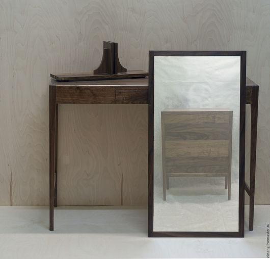 Зеркала ручной работы. Ярмарка Мастеров - ручная работа. Купить Зеркало в раме из американского ореха. Handmade. Темно-серый, дерево