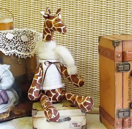 Куклы Тильды ручной работы. Ярмарка Мастеров - ручная работа. Купить Тильда Жираф. Handmade. Коричневый, подарок на новый год