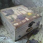 Для дома и интерьера handmade. Livemaster - original item China box Lavandulae. Handmade.