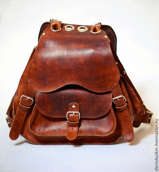 Рюкзаки ручной работы. Ярмарка Мастеров - ручная работа. Купить Рюкзак из натуральной кожи. Handmade. Рюкзак, для охоты, кожа натуральная