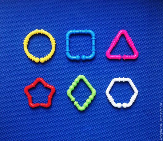 Шитье ручной работы. Ярмарка Мастеров - ручная работа. Купить Кольца для игрушек геометрические фигуры. Handmade. Кольцо для игрушки