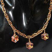 Украшения handmade. Livemaster - original item Choker gold plated with crystals Swarovski Milady. Handmade.