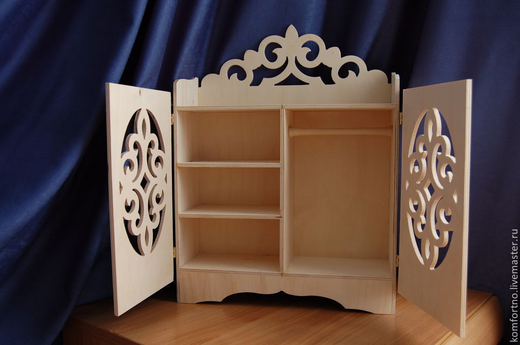 Puppet locker.Blank for decoupage and painting.875