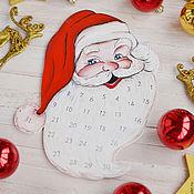 """Подарки к праздникам ручной работы. Ярмарка Мастеров - ручная работа Адвент календарь """"Дедушка Мороз"""", новогодний подарок, новый год 2017. Handmade."""