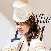 Одежда ручной работы. Ярмарка Мастеров - ручная работа Свадебный цилиндр в стиле стимпанк. Handmade.