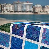 """Для дома и интерьера ручной работы. Ярмарка Мастеров - ручная работа """"Окно в море"""" лоскутное одеяло. Handmade."""