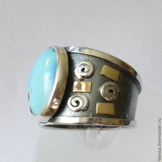 Кольца ручной работы. Ярмарка Мастеров - ручная работа. Купить Кольцо с бирюзой. Handmade. Бирюзовый, кольцо золото бирюза