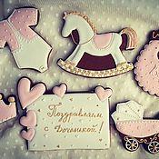 Подарки к праздникам ручной работы. Ярмарка Мастеров - ручная работа Пряничный набор на рождение доченьки. Handmade.