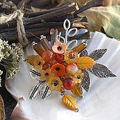"""Украшения ручной работы. Ярмарка Мастеров - ручная работа """"Осень-веснушка"""" - брошь. Handmade."""