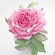 """Броши ручной работы. Роза """"Magnifico"""". Натуральный шелк.. 'Poli-Flower'   (Надежда). Ярмарка Мастеров. Роза ручной работы"""