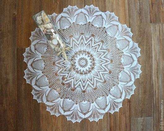 Текстиль, ковры ручной работы. Ярмарка Мастеров - ручная работа. Купить Мини-скатерть крючком Амелия. Handmade. Белый