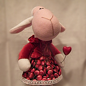 Куклы и игрушки ручной работы. Ярмарка Мастеров - ручная работа Овечка  Вишенка. Handmade.