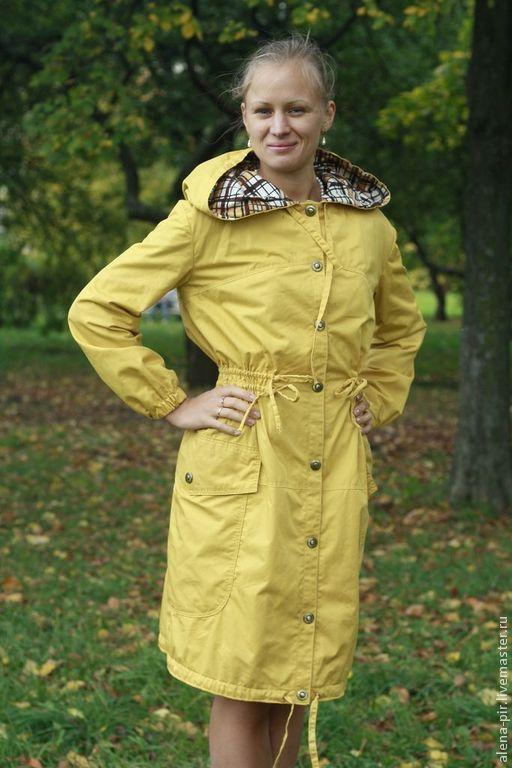 Верхняя одежда ручной работы. Ярмарка Мастеров - ручная работа. Купить Осенняя парка. Handmade. Желтый, женская одежда