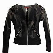 Одежда handmade. Livemaster - original item Black Woman Leather Jacket. Handmade.