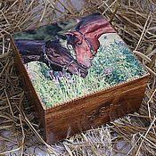 """Для дома и интерьера ручной работы. Ярмарка Мастеров - ручная работа Короб """"Лошади"""". Handmade."""