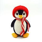 Куклы и игрушки handmade. Livemaster - original item Knitted toy Penguin black. Handmade.