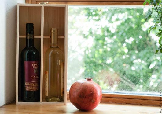 Дизайн интерьеров ручной работы. Ярмарка Мастеров - ручная работа. Купить Коробка для бутылок. Handmade. Аксессуар для вина, Декупаж, вино