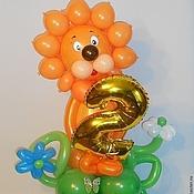 Подарки к праздникам ручной работы. Ярмарка Мастеров - ручная работа Львенок из воздушных шаров .Хит!. Handmade.