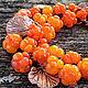 """Браслеты ручной работы. Ярмарка Мастеров - ручная работа. Купить Браслет lampwork """"Морошка"""" - Rubus chamaemorus. Handmade. Браслет, морошка"""