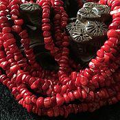 Бусины ручной работы. Ярмарка Мастеров - ручная работа Бусина 8-10 мм Крошка (28), коралл. Handmade.