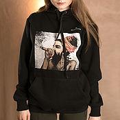 Одежда handmade. Livemaster - original item Hoodies: HINDI UNISEX sweatshirt with an author`s print. Handmade.