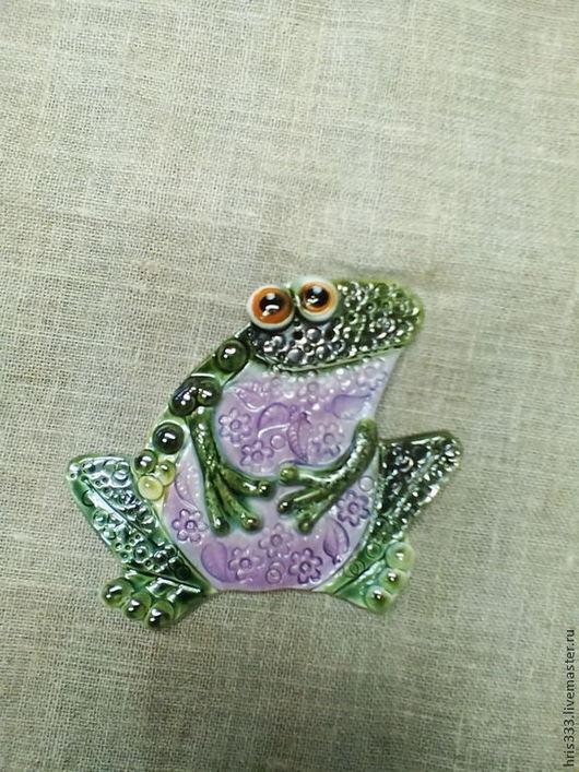 """Декор поверхностей ручной работы. Ярмарка Мастеров - ручная работа. Купить панно """" Лягушка"""". Handmade. Голубой, жаба, зеленый"""