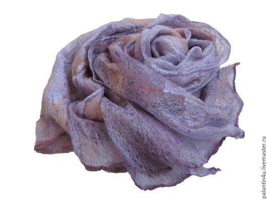 Шали, палантины ручной работы. Ярмарка Мастеров - ручная работа. Купить Палантин  шелк и шерсть. Handmade. Палантины шарфы
