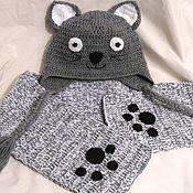 Работы для детей, handmade. Livemaster - original item SET the Kitten for a boy: hat and scarf. Handmade.