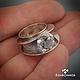Rings handmade. Livemaster - handmade. Buy Ring 'Rainbow'.Gift, ring, design, original, large ring, large, silver