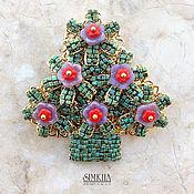 Украшения handmade. Livemaster - original item brooch Christmas tree.. Handmade.