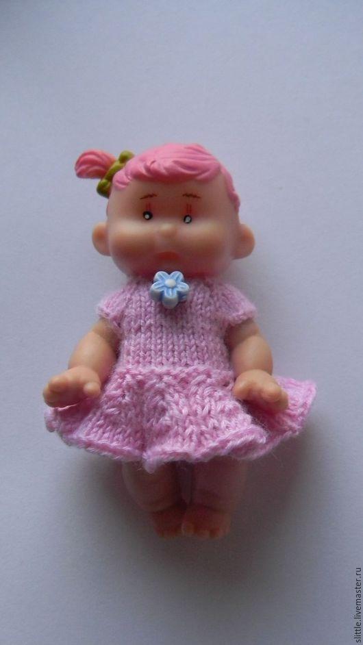 Одежда для кукол ручной работы. Ярмарка Мастеров - ручная работа. Купить Платьица на мини куколку. Handmade. Синий, кукольное платье