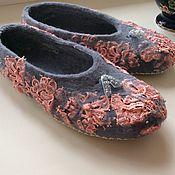 Обувь ручной работы. Ярмарка Мастеров - ручная работа Валяные тапочки. Handmade.