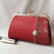Сумки и аксессуары handmade. Livemaster - original item Leather handbag with clasp Lyubava. Handmade.