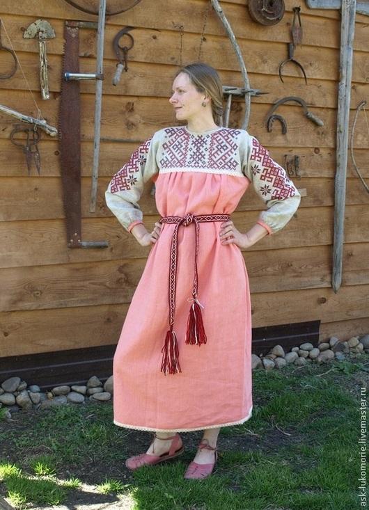 Одежда ручной работы. Ярмарка Мастеров - ручная работа. Купить платье русское   с вышивкой обережное. Handmade. Платье нарядное, рубаха