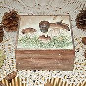 """Для дома и интерьера ручной работы. Ярмарка Мастеров - ручная работа Короб для хранения """"Белые грибочки"""". Handmade."""