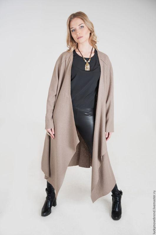 Верхняя одежда ручной работы. Ярмарка Мастеров - ручная работа. Купить Пальто из шерсти. Handmade. Темно-серый, Пальто на осень