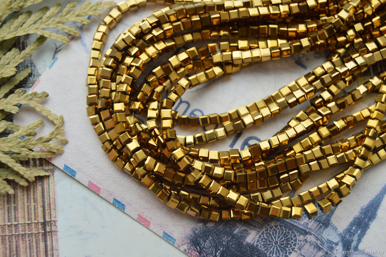 Куб 2 мм Золото, Шнуры, Ставрополь,  Фото №1