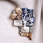 """Украшения ручной работы. Ярмарка Мастеров - ручная работа """"Зимнее дерево"""" брошь. Handmade."""