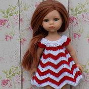 Куклы и игрушки ручной работы. Ярмарка Мастеров - ручная работа Одежда для куклы Paola Reina/Паола Рейна, платье Зигзаг. Handmade.