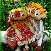 Куклы и игрушки ручной работы. Ярмарка Мастеров - ручная работа Чердачные куклы Рыжик и Клепа. Handmade.