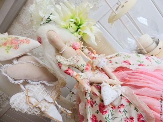 """Куклы Тильды ручной работы. Ярмарка Мастеров - ручная работа. Купить Кукла Тильда """"Элеонора"""". Handmade. Бледно-розовый, шерсть"""