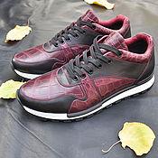 Обувь ручной работы handmade. Livemaster - original item Sneaker in crocodile leather, with inserts made of genuine leather.. Handmade.