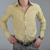 "Одежда ручной работы. Ярмарка Мастеров - ручная работа Мужская  шёлковая рубашка ""Giorgio"". Handmade."