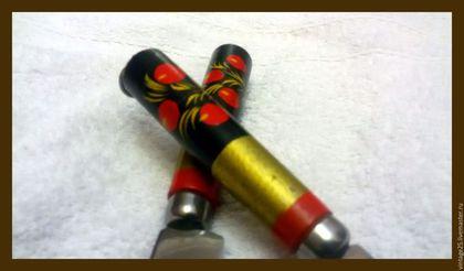 Винтажные предметы интерьера. Ярмарка Мастеров - ручная работа. Купить Винтаж два ножа хохлома 64 год с кольцами для подвески. Handmade.