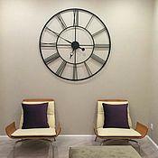 Для дома и интерьера handmade. Livemaster - original item Large wall clock made of metal 120 cm. Handmade.