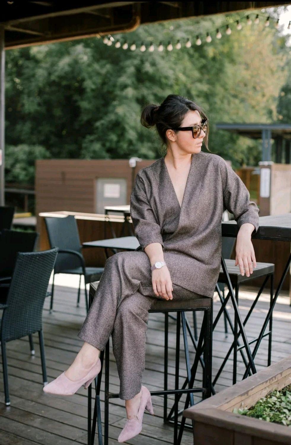 Тëплый костюм с жакетом в стиле кимоно, Костюмы, Москва,  Фото №1